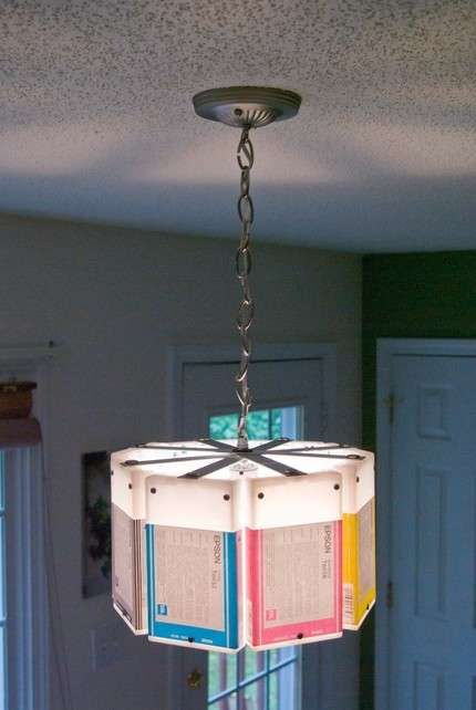 Recycled Cartridge Chandeliers : Lowell and Louise Ink Cartridge Lamps