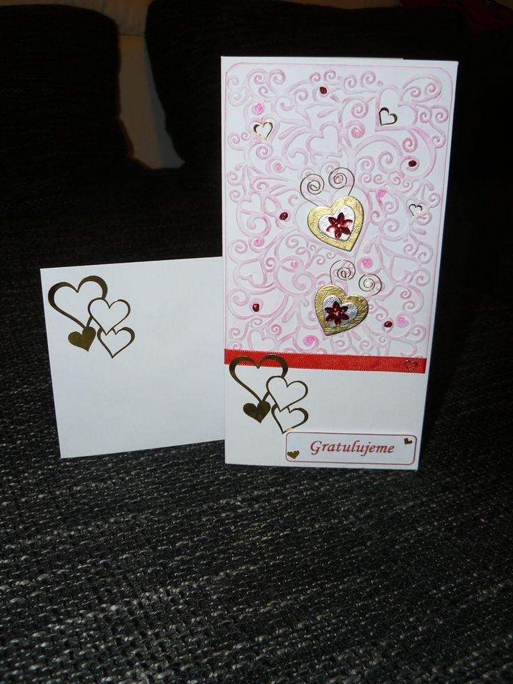 svatební přání - wedding card
