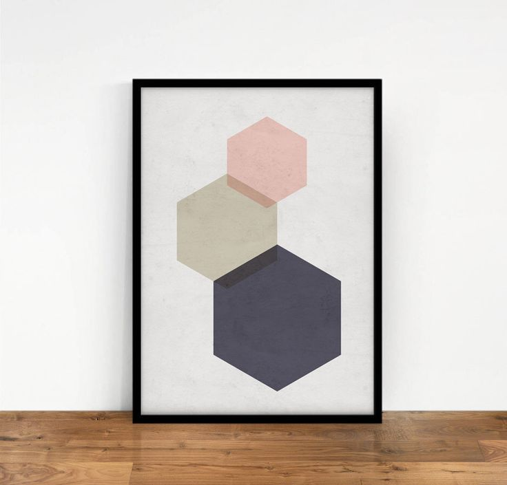 Hexagon Print, Geometric Art, Blush Pink Wall Art, Geometric Wall Decor, Abstract Art, Printable Art, Digital Print, Geometric Figures Print by NouveauPrints on Etsy https://www.etsy.com/listing/287574655/hexagon-print-geometric-art-blush-pink