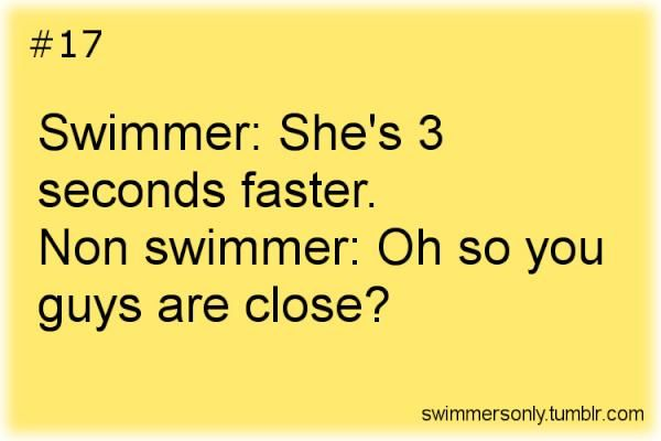 """Every second counts... I'm like """" she's 1 second faster than me oh my god it's like the end of the world"""" they have no idea how much it takes to even beat 1 second of ur time"""