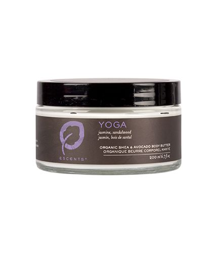Yoga Shea Body Butter. Yoga scent includes Jasmine and Sandalwood essential oils.