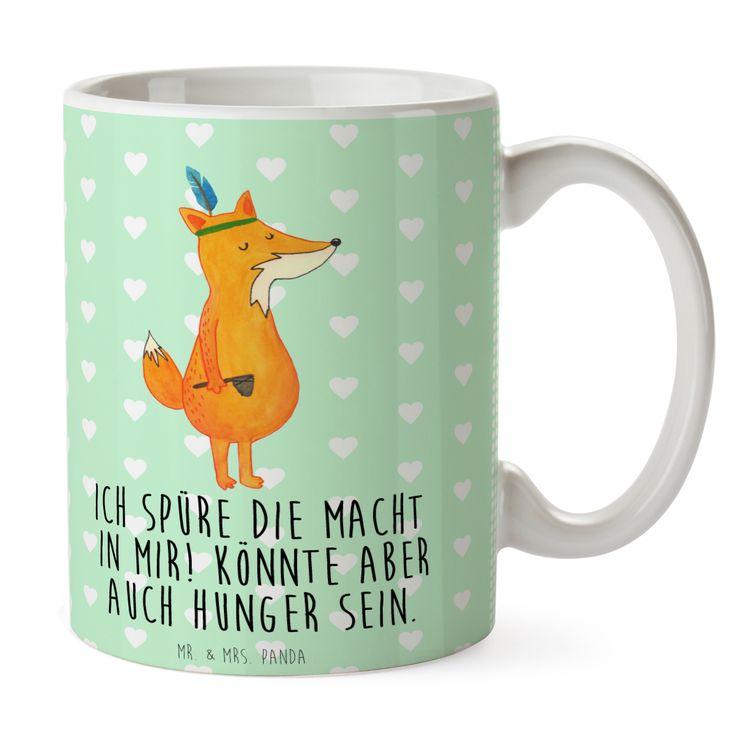 Tasse Fuchs Indianer aus Keramik  Weiß - Das Original von Mr. & Mrs. Panda.  Eine wunderschöne Keramiktasse aus dem Hause Mr. & Mrs. Panda, liebevoll verziert mit handentworfenen Sprüchen, Motiven und Zeichnungen. Unsere Tassen sind immer ein besonders liebevolles und einzigartiges Geschenk. Jede Tasse wird von Mrs. Panda entworfen und in liebevoller Arbeit in unserer Manufaktur in Norddeutschland gefertigt.    Über unser Motiv Fuchs Indianer  Die Fox Edition ist eine besonders liebevolle…