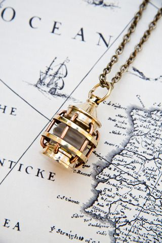 lost at sea lantern necklace