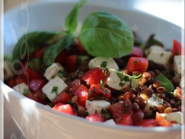 Recette Salade de lentilles à la méditerranéenne, par Lexibule - Ptitchef