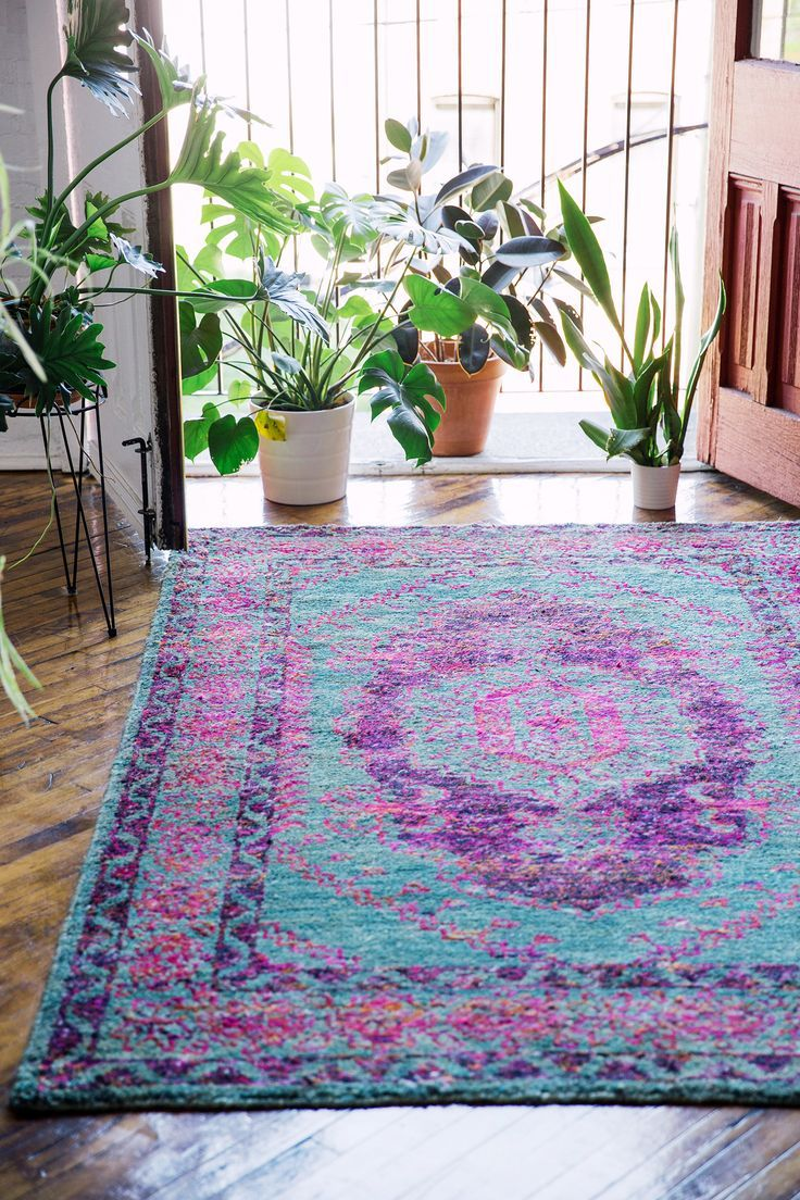 Purple and blue rug