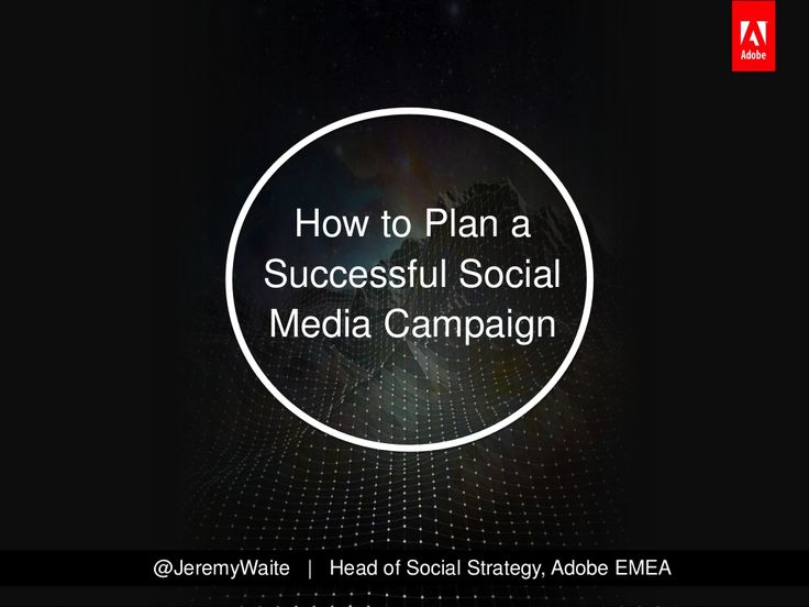 How To Plan A Successful Social Media Campaign | Excellent Slideshare by Jeremy Waite.