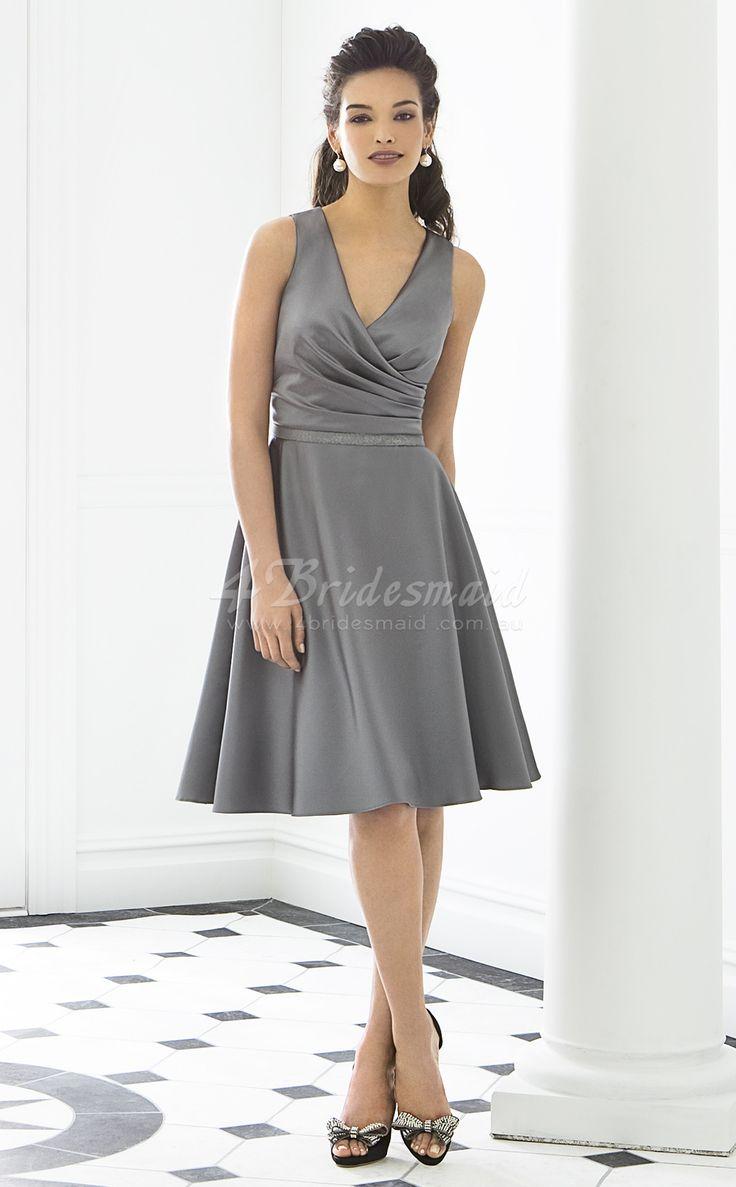 41 best silver dresses images on pinterest silver bridesmaid a line v neck matte satin shortmini silver bridesmaid dressesbd255 ombrellifo Choice Image