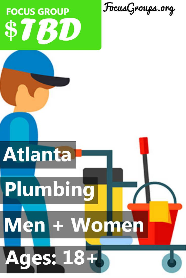 Fieldwork Atlanta is looking for PLUMBERS to participate in a a paid market research study. If you are interested in participating, please sign up and take the survey to see if you qualify or call us at 770-955-1232 and ask for the plumbing study.