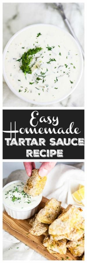 This is the best Easy Homemade Tartar Sauce Recipe! Making your own tartar sauce is simple and tastes way better than store-bought. This fast recipe is made with pickles and mayonnaise. It goes great with fried fish and on sandwiches. Learn how to make this easy sauce! #tartarsauce #homemade #easy #fish #seafood