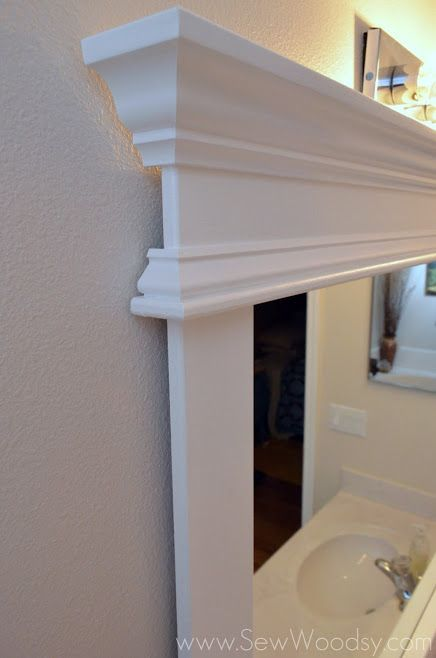Video How To Frame A Builder 39 S Grade Mirror Via Bathrooms Pinterest