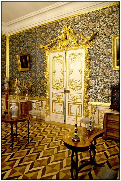 gorgeous interior door at Peterhof Palace, St. Petersburg, Russia