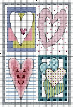Sweet Hearts Cross Stitch from DMC
