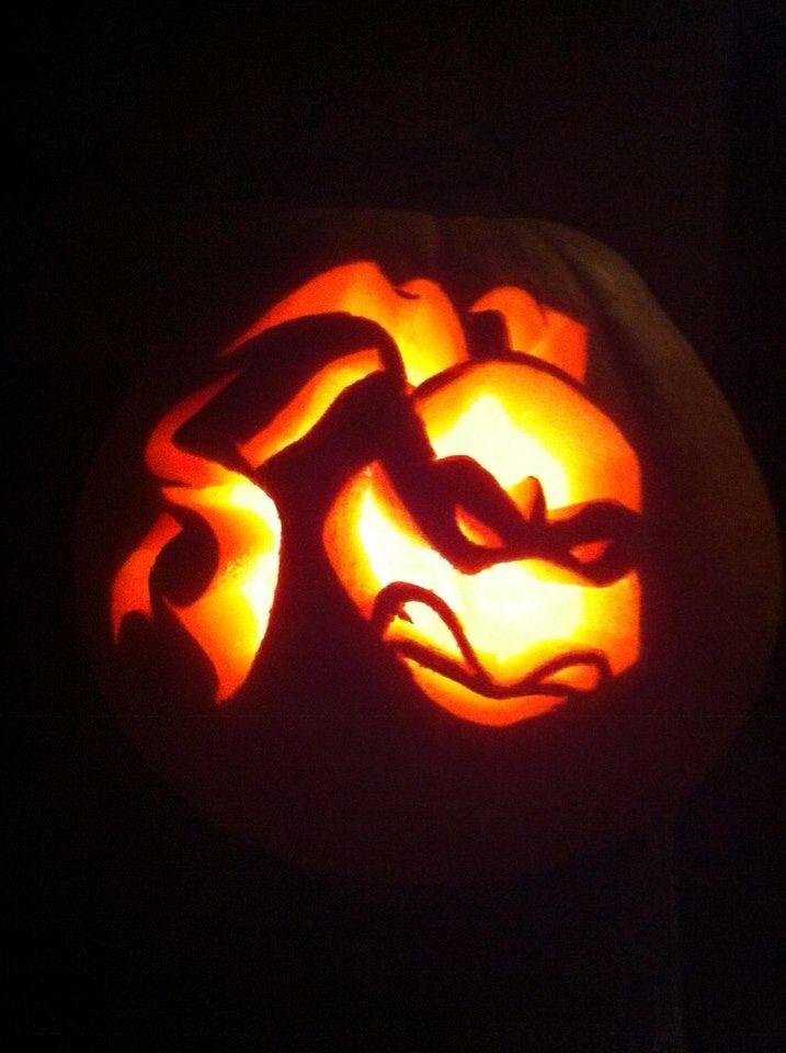 Ninja turtle pumpkin.  Halloween 2013