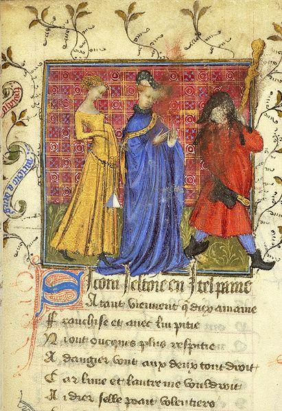 MS M.245 fol. 25r.  Roman de la Rose. France, possibly Paris, ca. 1405