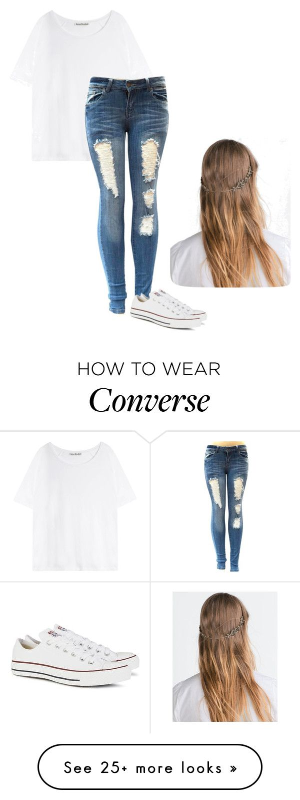"""""""Casual Converse Day"""" by bella-trendsetter on Polyvore featuring Acne Studios, Zara and Converse"""