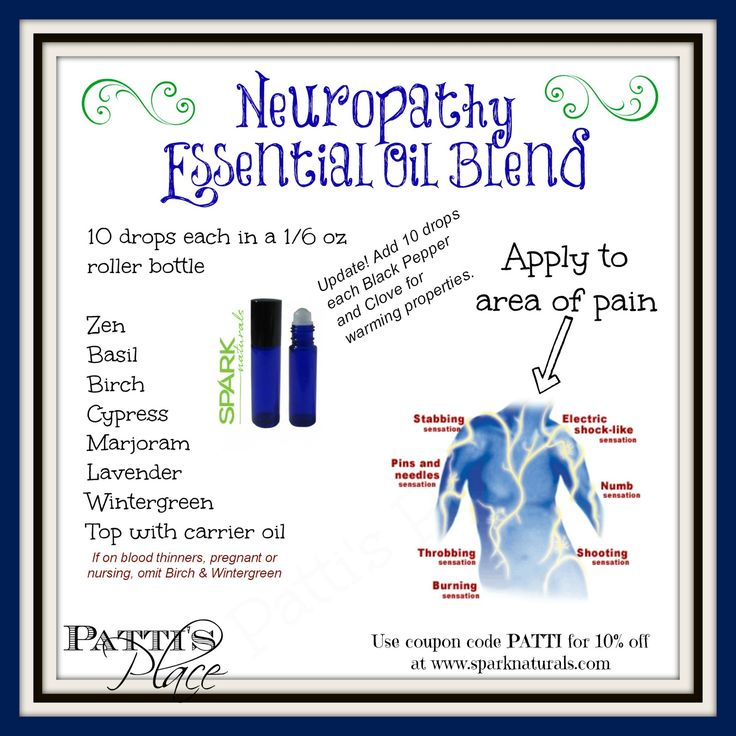Updated neuropathy blend use in roller bottle or 4 ounce jar of salve