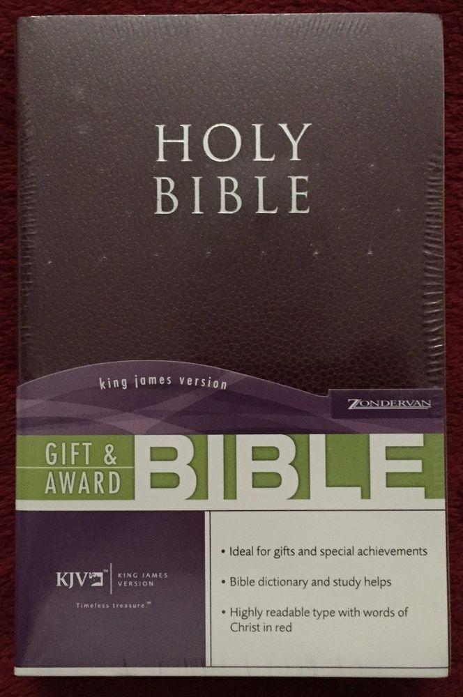 Gift & Award Holy Bible King James Version Zondervan Burgundy Ideal Holiday Gift
