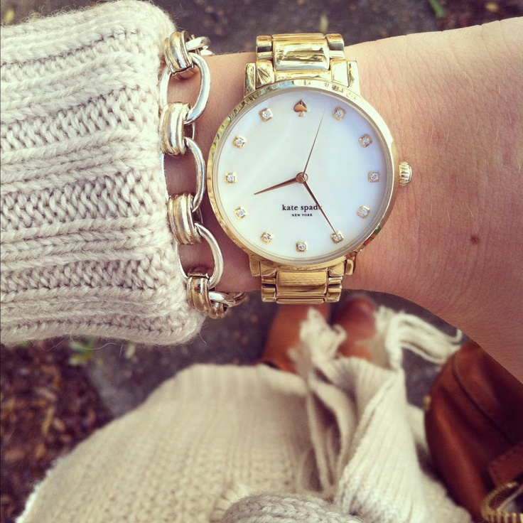 kate spade watch- love this watch but I would want it in silver!