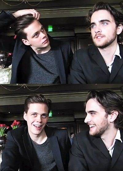 Landon Liboiron & Bill Skarsgard from hemlock grove = double PERFECTION in one photograph