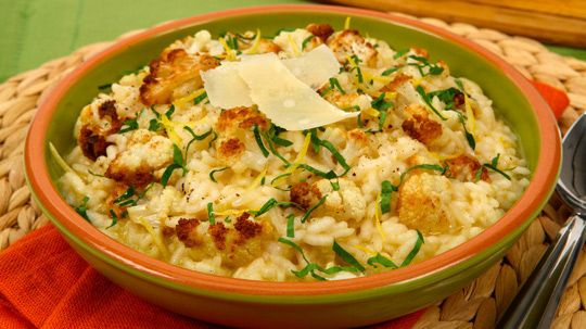 Roasted Cauliflower Risotto with Canadian Parmesan
