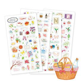 Gmarket - Happy Life Sticker ver.2 / transparent / illustrated /...