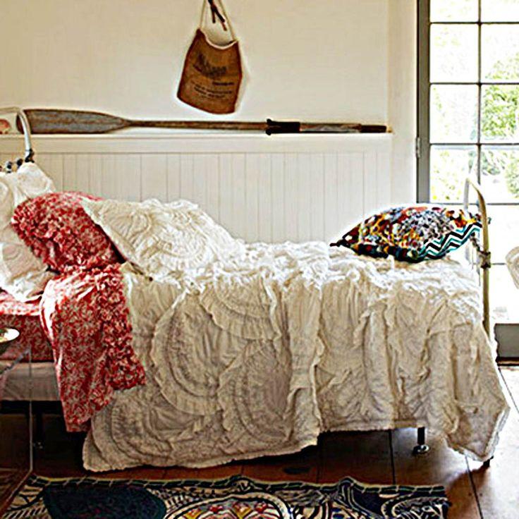 rivulets cream 3pcs quilt bedding