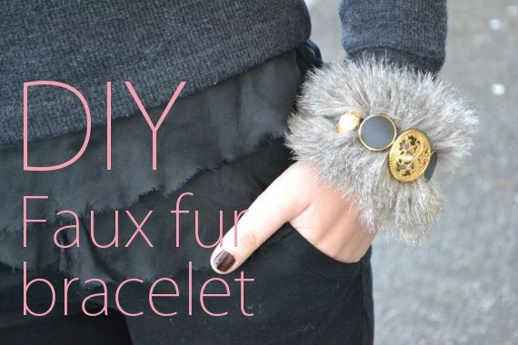 Make Your Holidays: 7 DIY Bracelet Projects i have fur leftover from halloween also you can pelt a stuffed animal