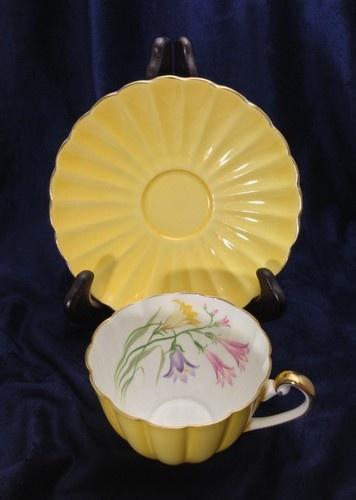 Rare Vintage Shelley England China Ludlow Yellow - Freesia