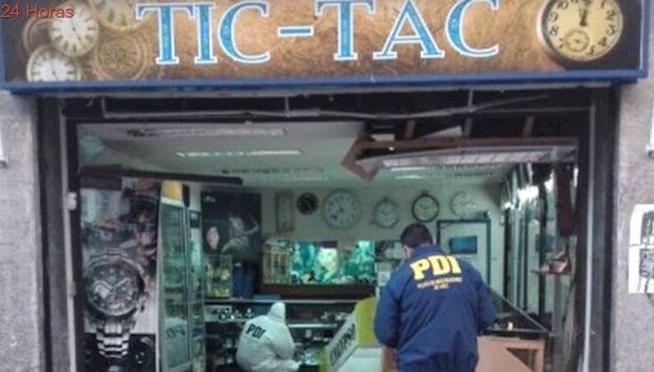 Desconocidos realizan millonario robo con alunizaje a céntrica joyería de La Serena