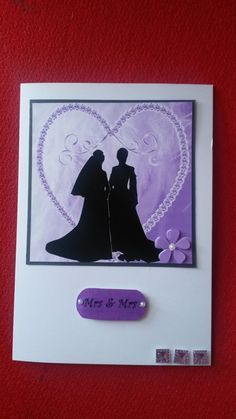lovely hand made female gay wedding card by houseofBespokeCards, £2.00