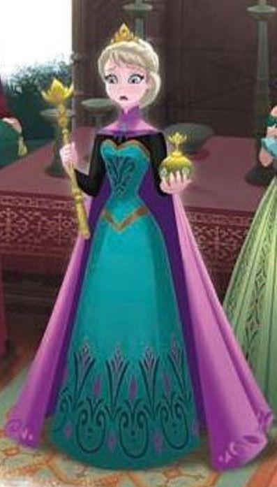 I love Elsa's dress in the coronation scene!