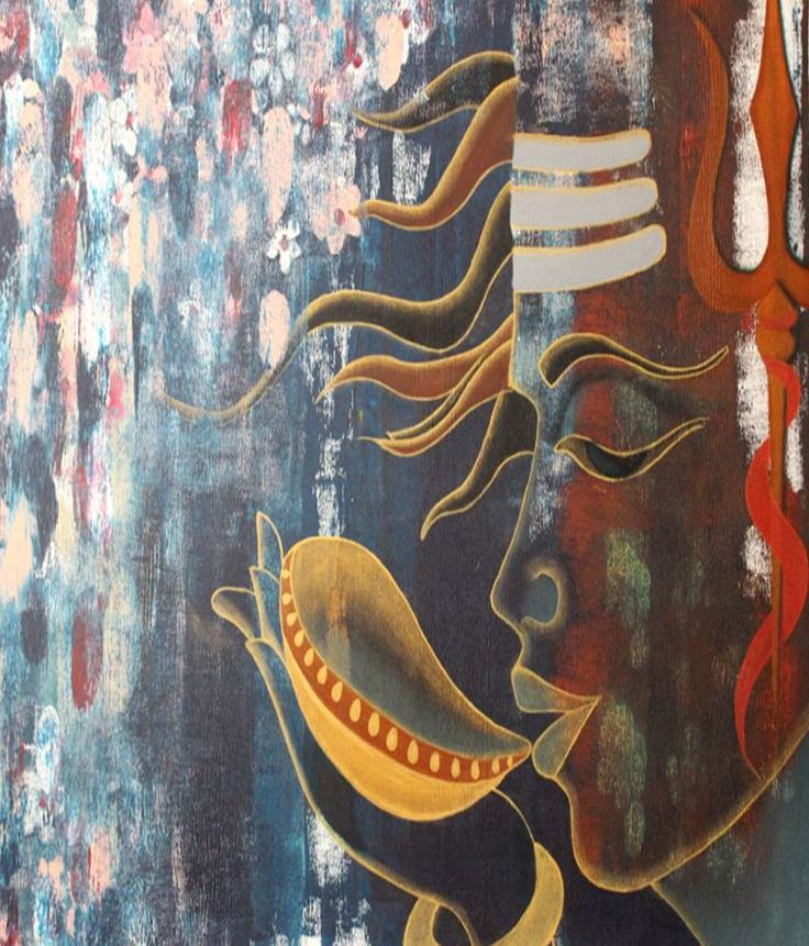 All About Paintings Halahal Shiva Painting