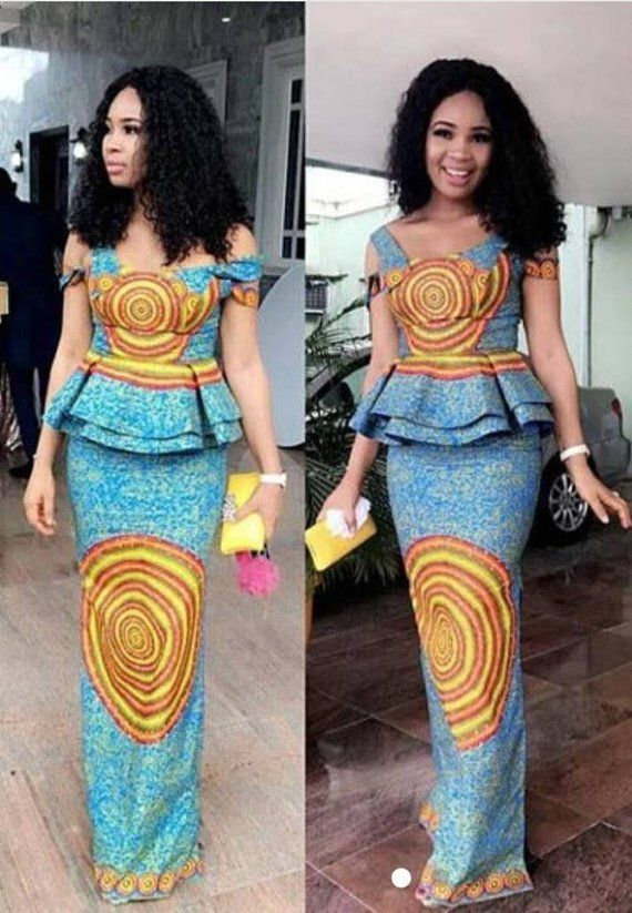 Elegant And Classy Ankara Two Piece Dress Ankara Peplum And Skirt