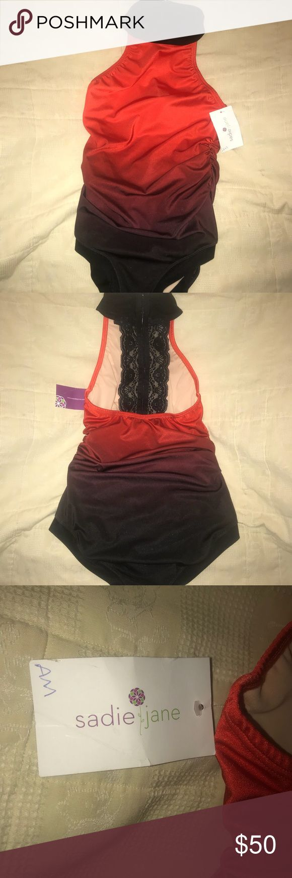 Sadie Jane Lace back red ombré leotard Brand new with tags!  Retails for $60. Make offer. Sadie Jane Other