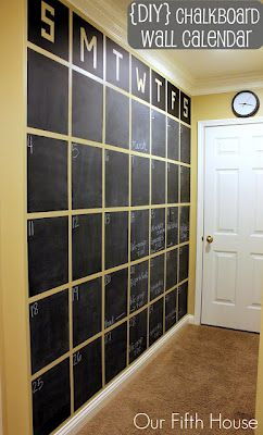 Large Blackboard wall:Laundry room /mud room wall idea