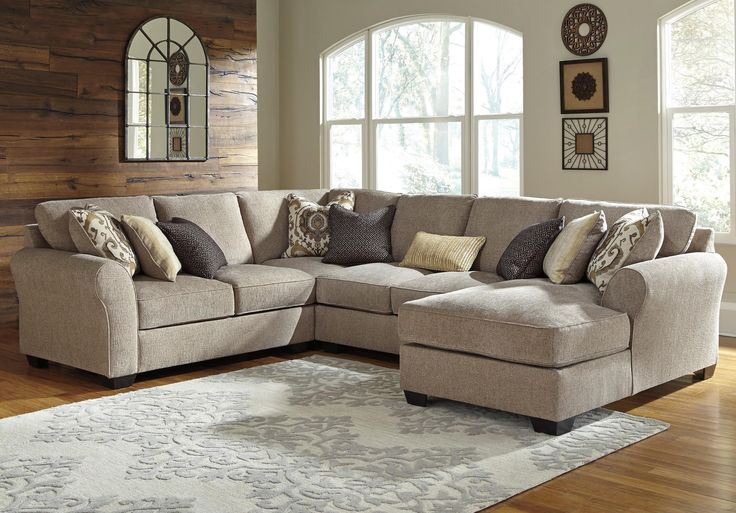Pantomine 4-Piece Sectional with Right Chaise by Benchcraft