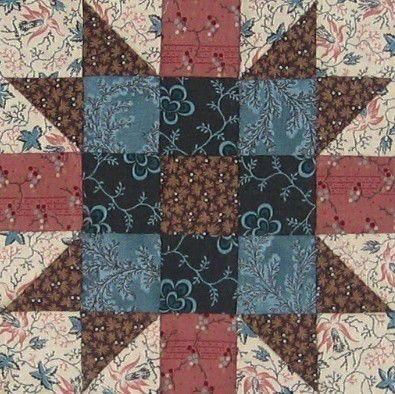 A - PassionSampler5  --- New England, Civil War quilt block