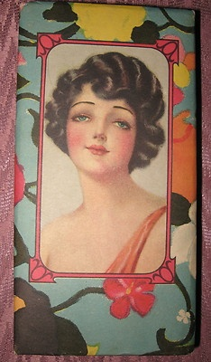 Vintage Art Deco Risque Flapper Candy Nut Box Art Deco Colors in Great Conditio | eBay