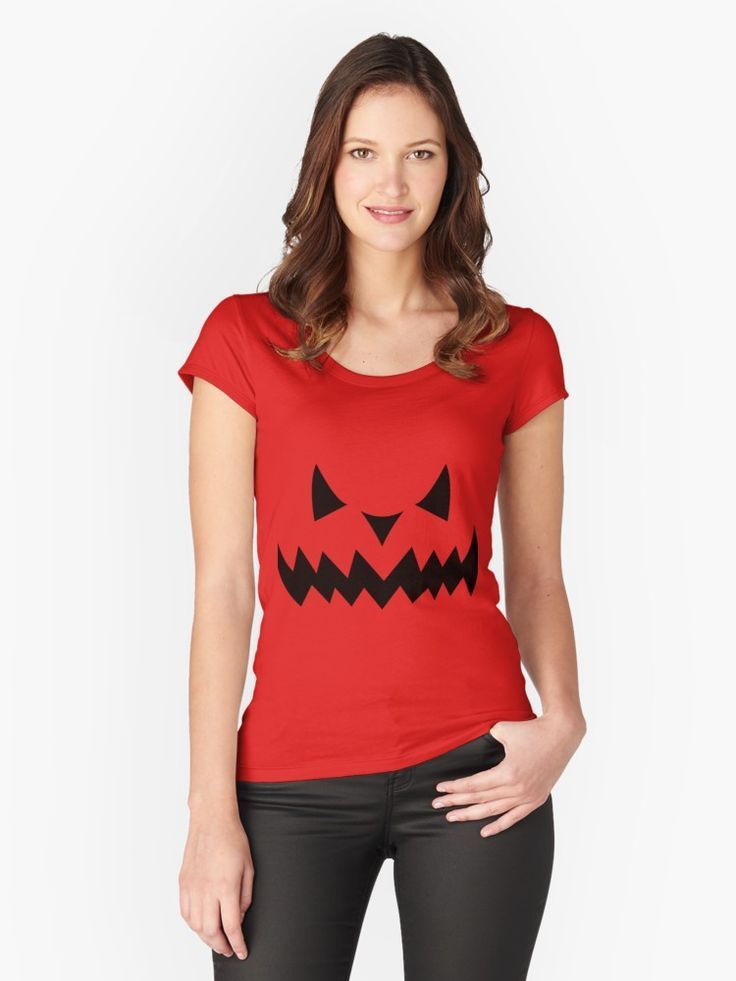 'Scary face ' Fitted Scoop T-Shirt by mademesmile