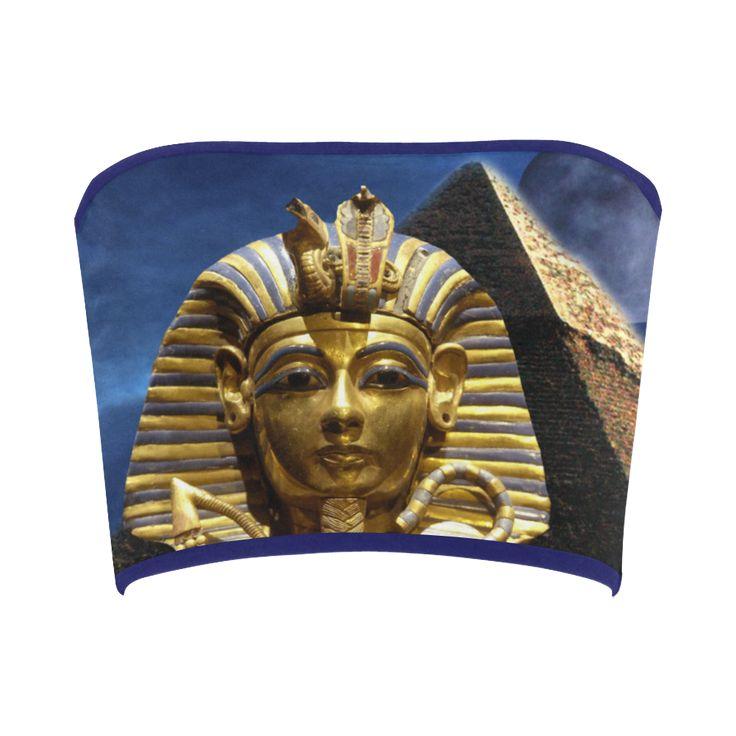 King Tut and Pyramid Bandeau Top. FREE Returns. #artsadd #tops #egypt
