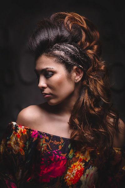 Creative Indiana, Sergey Mityaev Photography #creativephotography #creativeportrait #creativeportraiture #indian #flowers #dress #floral #flowerdress #creativehairdress #hairdress #studio