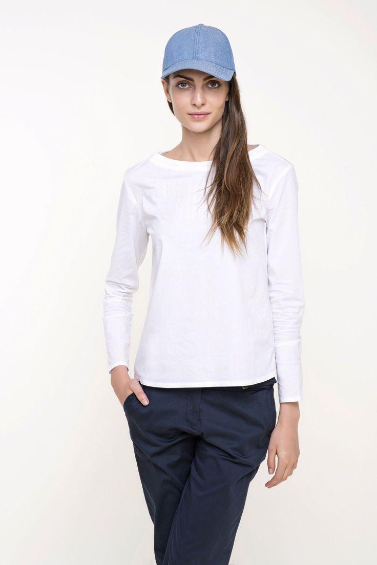 bluzka damska tkaninowa  #tatuum #whitet-shirt
