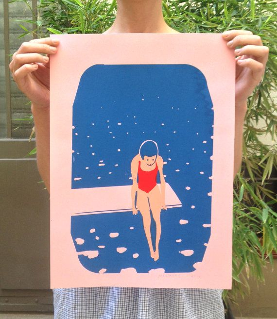 Poster / printing the diving board by VirginieMorgand on Etsy, €35.00