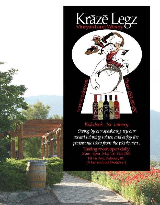 Kraze Legz Vineyard and Winery, Penticton BC