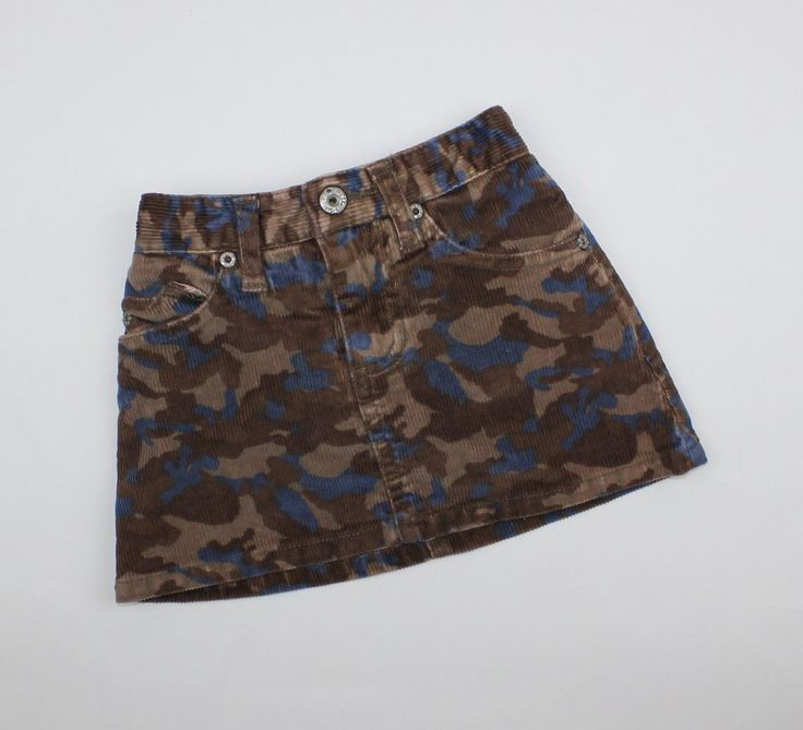 Children's Place Baby Girl Corduroy Skirt, Brown with Camo print, Size 18 Months, Only $5 Online Resale