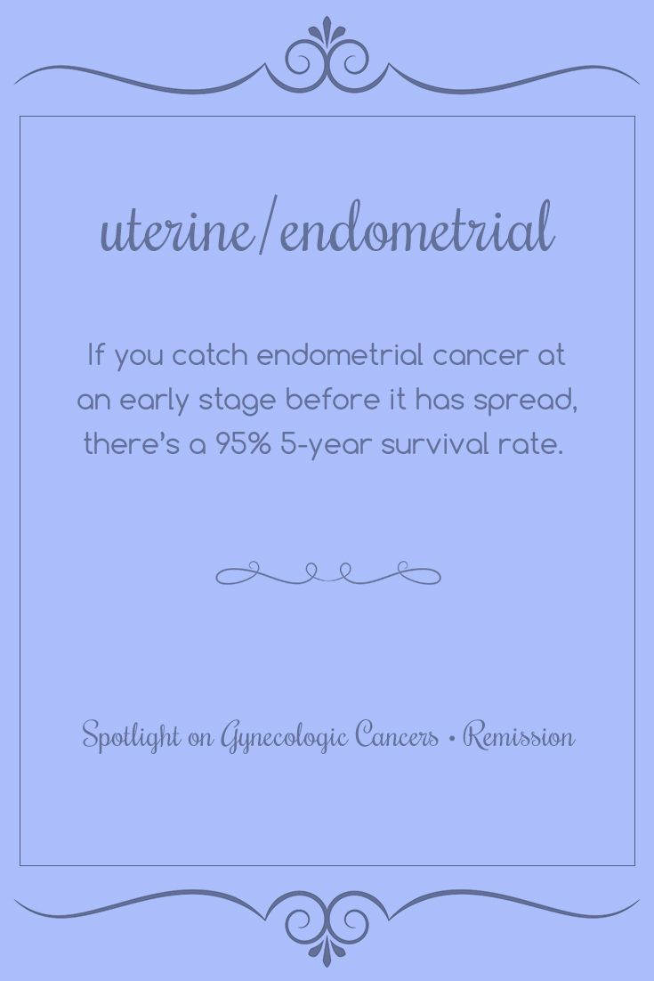 Uterine/Endometrial | If you catch endometrial cancer at an early stage before…