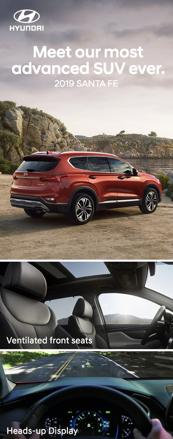 It S The Sport Utility Vehicle With Technology For Togetherness Hyundai Hyundai Santa Fe Hyundai Santa Fe Interior
