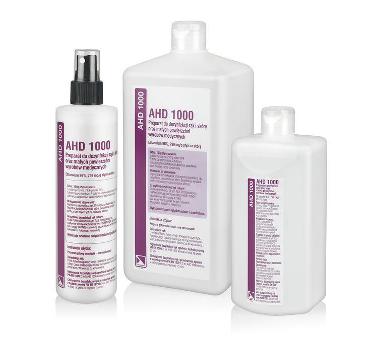 AHD 1000 Spray 250 ml Alkoholowy płyn do dezynfekcji rąk i skóry oraz małych powierzchni wyrobów medycznych.