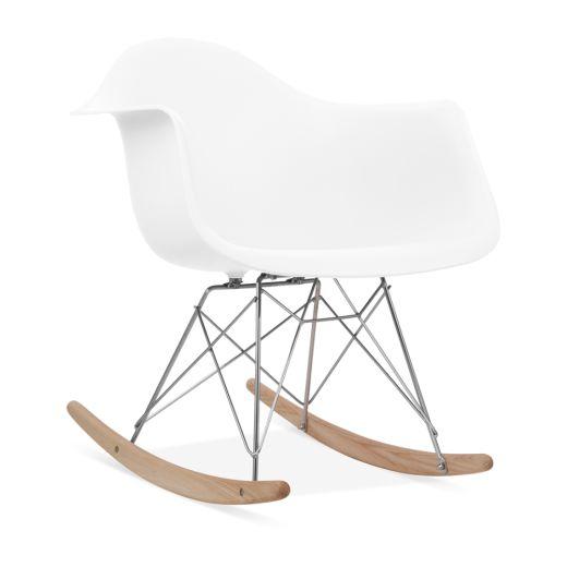 Charles Eames Style White RAR Rocker Chair | Modern Chairs | Cult UK