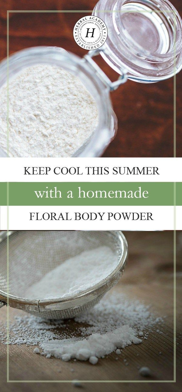 Looking for ways to beat the heat this summer? Homemade floral body powder can go a long way to keep you feeling fresh and dry!